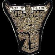 VintageU.S. Military Academy West Point Bullion Patch, Blazer Crest, 1979