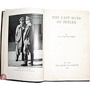 "Harris, WWII ""The Last Days of Hitler"" 1947 1st American edition by H. R. Trevor-Roper"