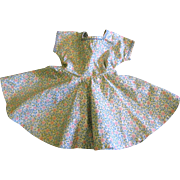 1950's Calico Circle Skirt Dress for Small Doll
