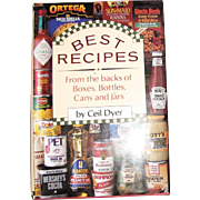 Harris, Best Recipes from the Backs of Boxes, Bottles, Cans and Jars by Ceil Dyer, HCDJ, Like New