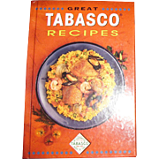 Great Tabasco Recipes by Paul McIlhenny, HC, 1st Edition, Like New