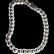 """7"""" Sterling Ball on Fine Chain Bracelet, 7 grams"""