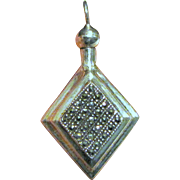 Sterling Marcasite Perfume Bottle Pendant, 9 grams