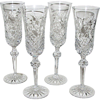 Four Wedgwood Sovereign Champagne Flutes No: 799117