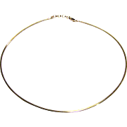 "18"" Italian Sterling Omega Necklace, 16 grams"