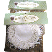 """Beverage Bonnets"" Drink Covers, 2 Unopened Packs of 4 (8 total)"
