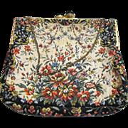 Pretty Vintage Floral Tapestry Bag