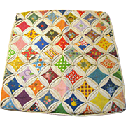 "Hand Made Vintage Calico 16"" Pillow Sham"