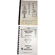 Harris, Old Timey Recipes of Manning & Manning Menu Deserts, Salads and Main Dishes, circa 1979