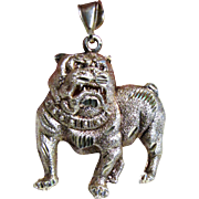 Large Vintage Sterling Bulldog Pendant, 13 grams