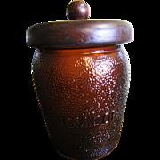 Gorgeous Dun-Rite Wood Duraglass Amber Glass Humidor