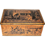 Victorian Pickwick Inn Candy Shop Tin, circa 1900, made by Canco
