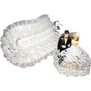 1950's Wedding Cake Topper & Bridal Bonnet