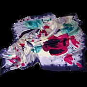 """Georgiou 100% Silk Floral 31"""" Sq Elegant Scarf"""