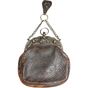 A Rare 19th Century Chatelaine Purse w/ Original Belt Clip