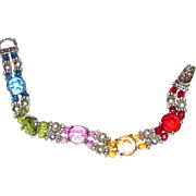 Vibrant Prong Set Crystal Tennis Bracelet w/ Magnetic Clasp