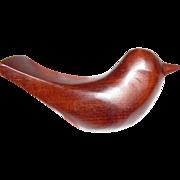 Hand Carved Wooden Myrtlewood Bird, Lovely Modernist Design