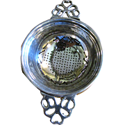 Silver Plated Tea Strainer, Traditional Colonial Design