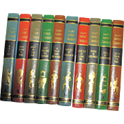 Collier's Junior Classics Volumes 1-10, 1962, Hardcover, Excellent