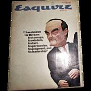 Esquire Magazine - November 1966 - Pininfarina tribute; Cantinflas; Hub ert Humphrey; NY Times
