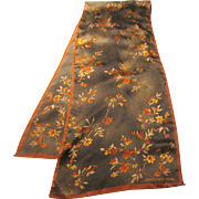 "52"" by 10"" Fine Poly Floral Scarf by Jones NY, Lovely Fall Shades!"