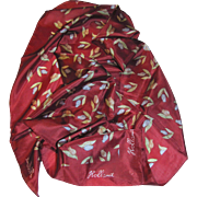 "28"" Sq Burgundy Tulip Design Scarf by Holland"