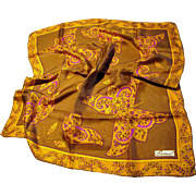 "25"" Sq Silk Twill Butterfly Scarf by Burmel"