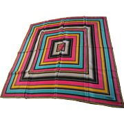 "Jaeger 24"" Sq Elegant Striped Silk Twill Scarf"