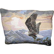 American Eagle Wool Needle & Petite Point Pillow