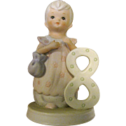 Lefton The Christopher Collection Porcelain Birthday Girl Age 8, 1982