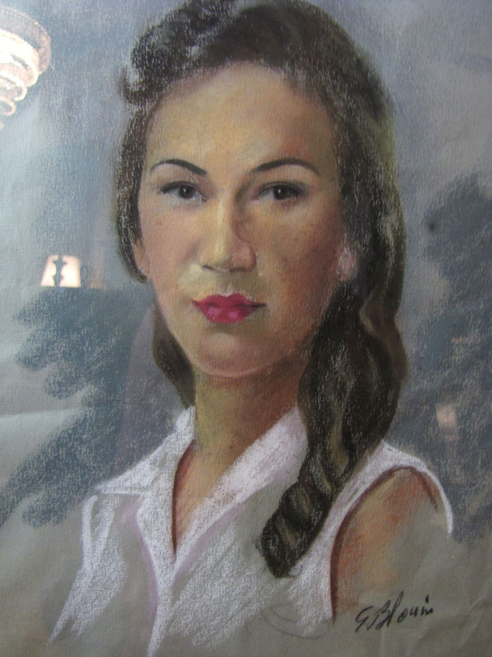 Harris September, Original Pastel Drawing of  Singer Maggie Griffith (from the Arthur Smith Show).