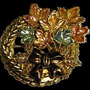 Fall Leaf Bouquet Enamel Pin by Kenneth Cole