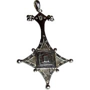 Large Tuareg Sterling Silver Cross Pendant, 10 grams
