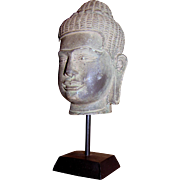 "8"" Cast Stone Resin Buddha Head"