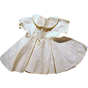 !950's Cream Full Skirt Day Dress for Medium Doll