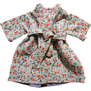 Floral Corduroy Wrapper Coat for Medium Doll
