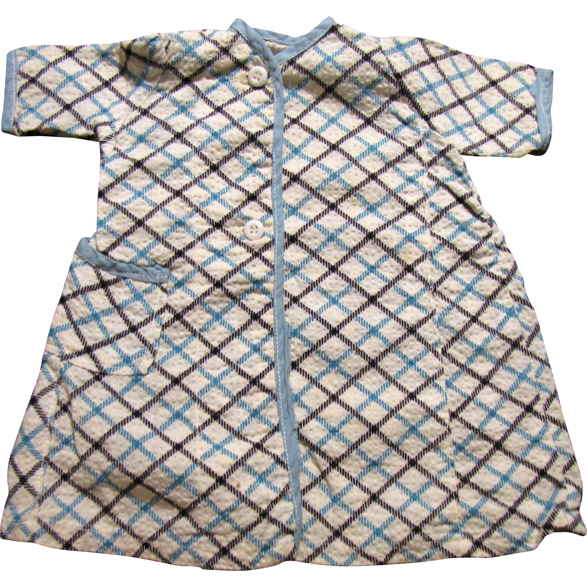1950's Check Wrapper for Medium Doll