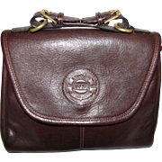 High Quality Petite Chocolate Leather Satchel by Land