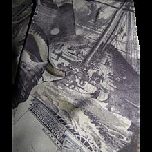 "Passenger Ship Graphics 62"" Poly Scarf"