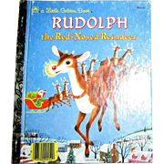 Rudolph the Red-Nosed Reindeer by Barbara Shook Hazen (Little Golden Book) 1990