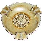 "Frankoma Ashtray Oklahoma 1907-1957 Desert Gold Color 7"", Mint"