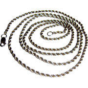 "Extremely Long 36"" Sterling Rope Chain, 25 grams"