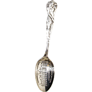 Indian Chief Souvenir Spoon Sterling Silver Denver Auditorium Building c1900's