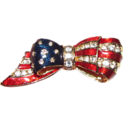Carolee Red White & Blue Patriotic Enamel Flag Pin
