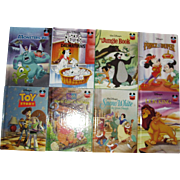 8 Walt Disney Children Books, 6 are Stated First American Editions, HC, Like New