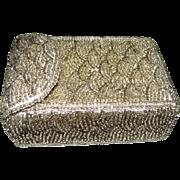 Vintage Seed Bead Cigarette Case