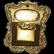 Old Cast Brass Wall Mount Match Holder