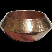 Bold 1970's Ethnic Hammered Copper Bracelet