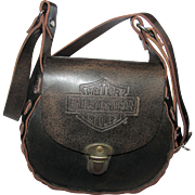 Harley Davidson Cross Body Distressed Leather Purse