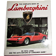 The Complete Book Of Lamborghini by Pete Lyons, Auto Editions 1988 HCDJ Nearly New